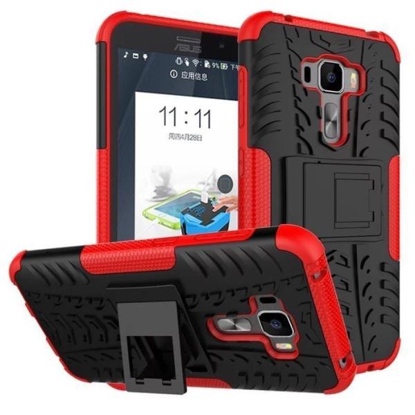 贈防爆膜?手機殼華碩ASUS ZenFone 3ZE552KL輪胎保護殼 5.5吋 變形金剛 可站立 防滑防摔Z012D