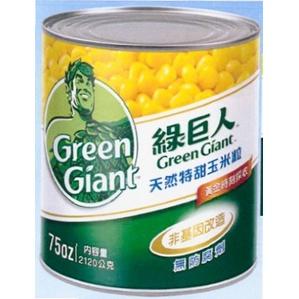【鑫福美食集】綠巨人天然特甜玉米粒 2126g/罐(超取限ㄧ罐)