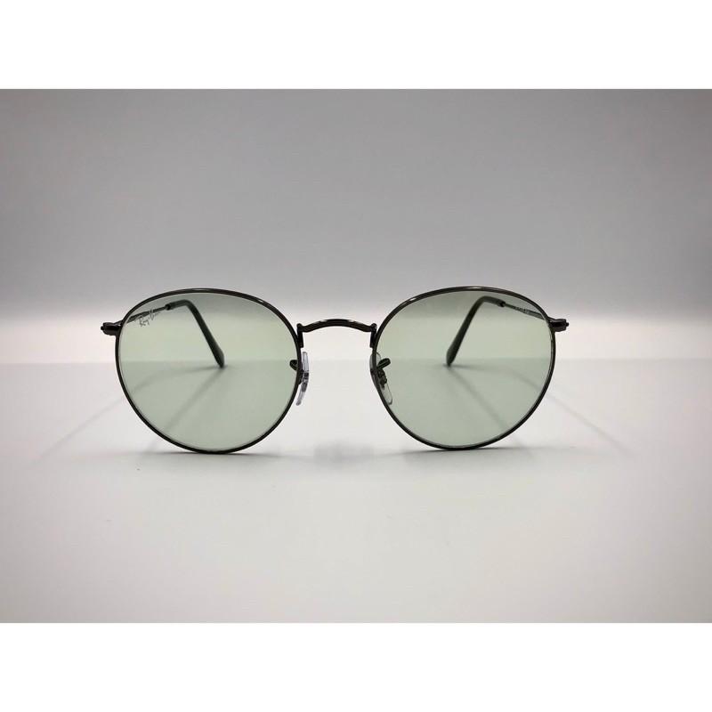 RayBan太陽眼鏡 RB3447-004/T1 銀邊淺綠變色鏡片 木村拓哉款(抗UV400)