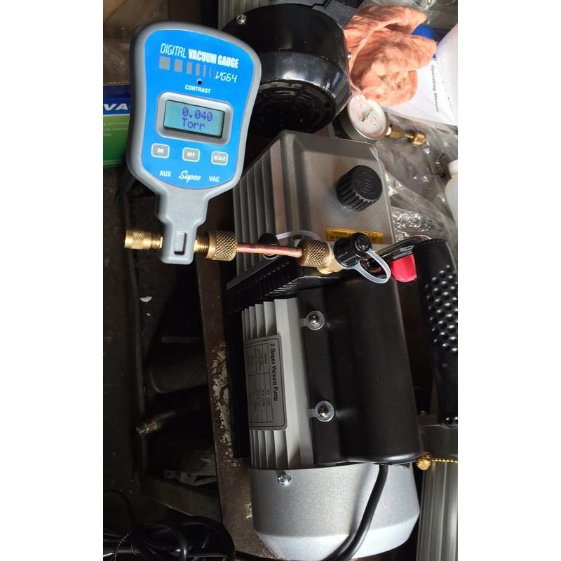 (挑戰全台最便宜)允統財精選 VE-245二段式油式真空幫浦/真空機(1/2HP)---灌冷媒抽真空、翻模、真空脫泡可