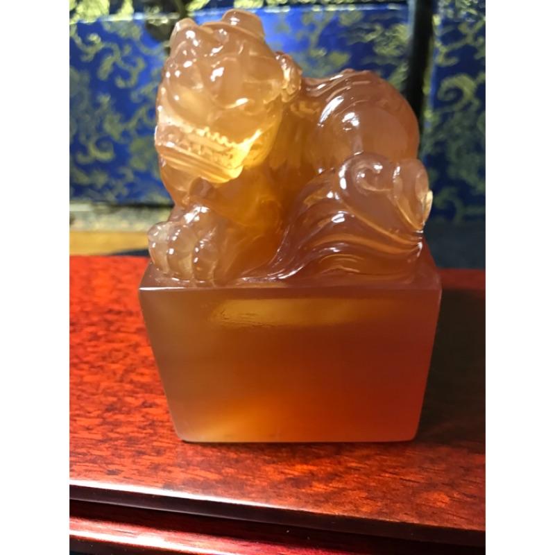 冰種金田黃-貔貅造型