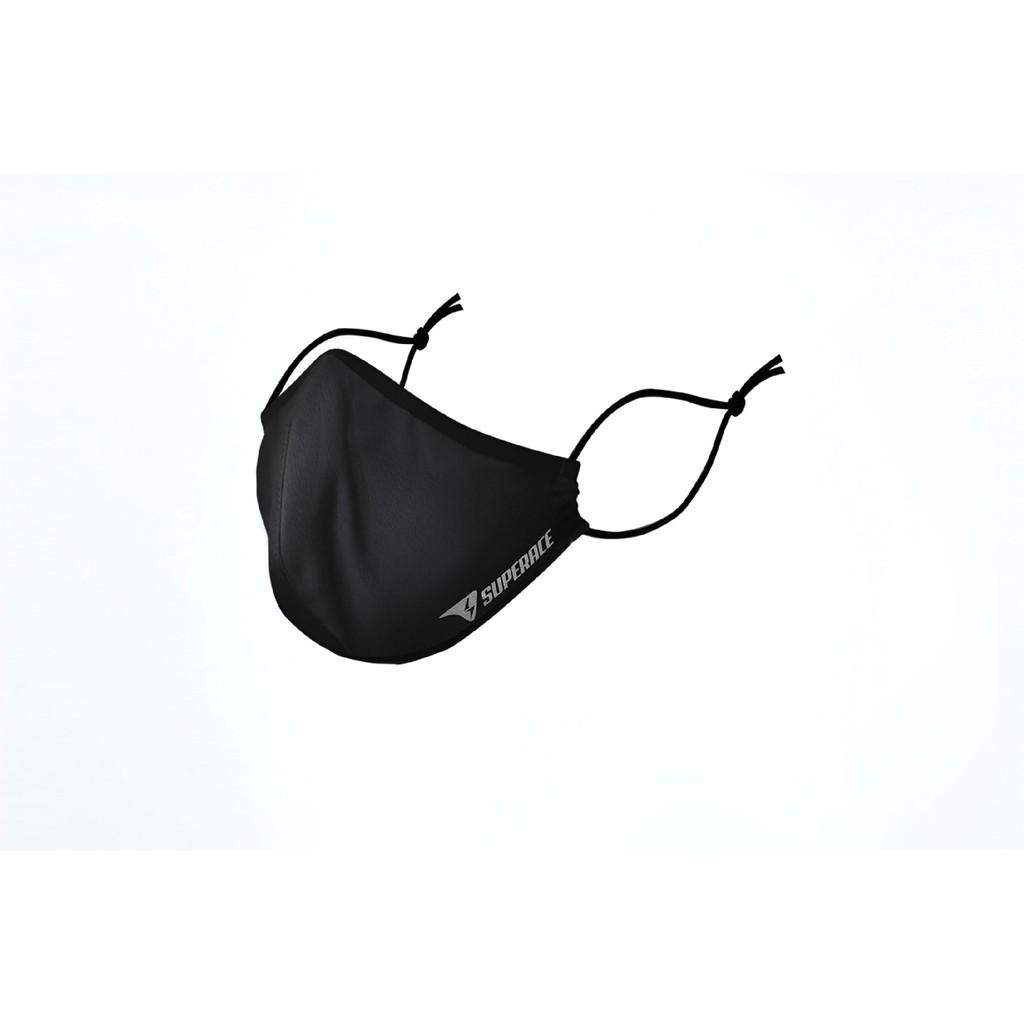 【SUPERACE】 零熱力 3D極輕透氣運動口罩_中性款_黑色