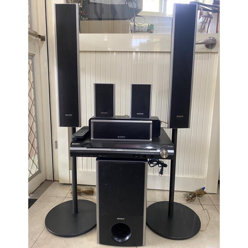(中古二手)SONY 5.1聲道環繞家庭劇院音響(DAV-DZ570)  含擴大機喇叭重低音