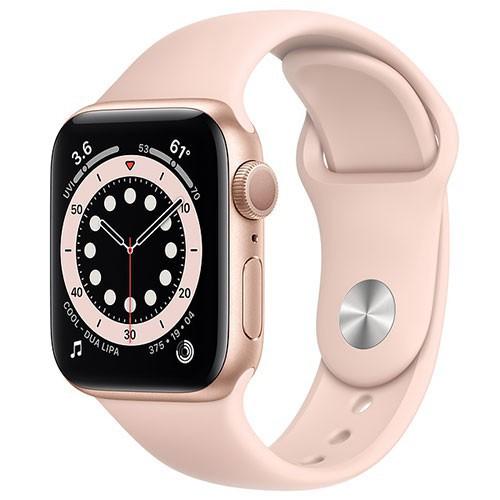 【爆款】Apple Watch Series 6 GPS版-鋁金屬殼搭配運動型錶帶【44m】