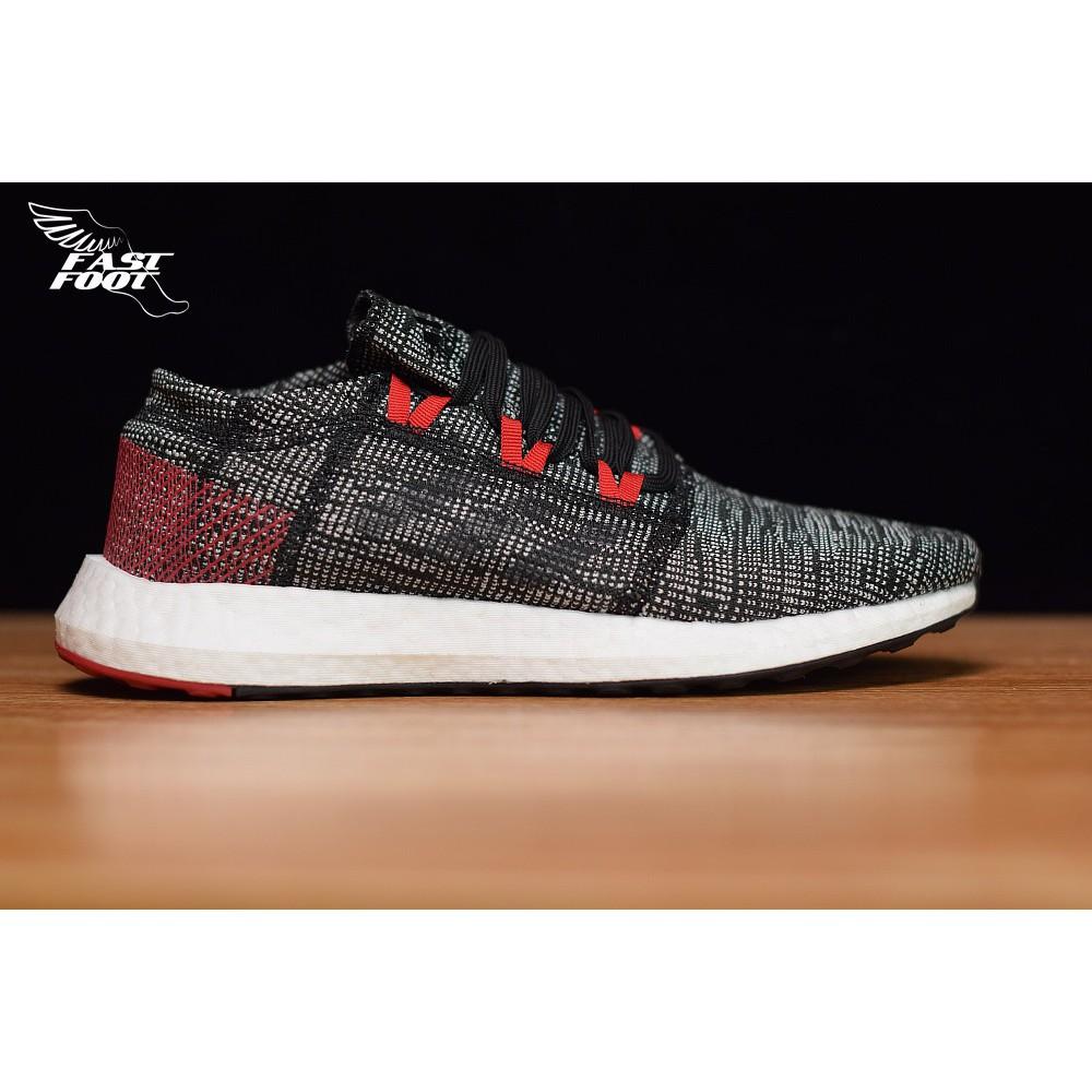 Adidas PureBOOST GO 灰桃紅 編織慢跑鞋 透氣 B75667
