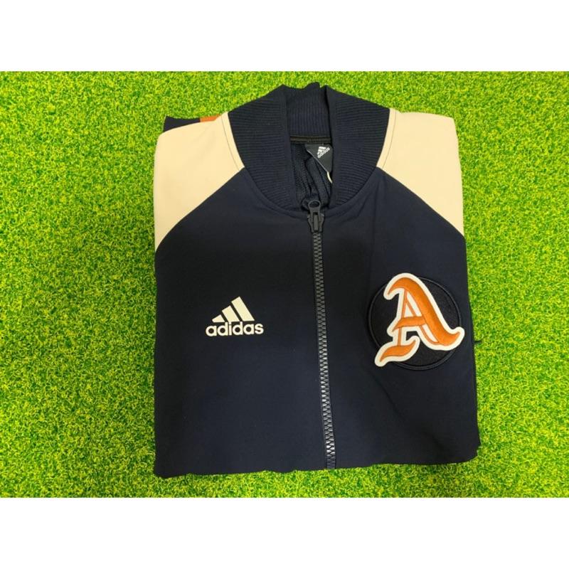 ADIDAS VRCT 台灣 中華台北 中華隊 運動外套 深藍色 立領 棒球外套 DX8408