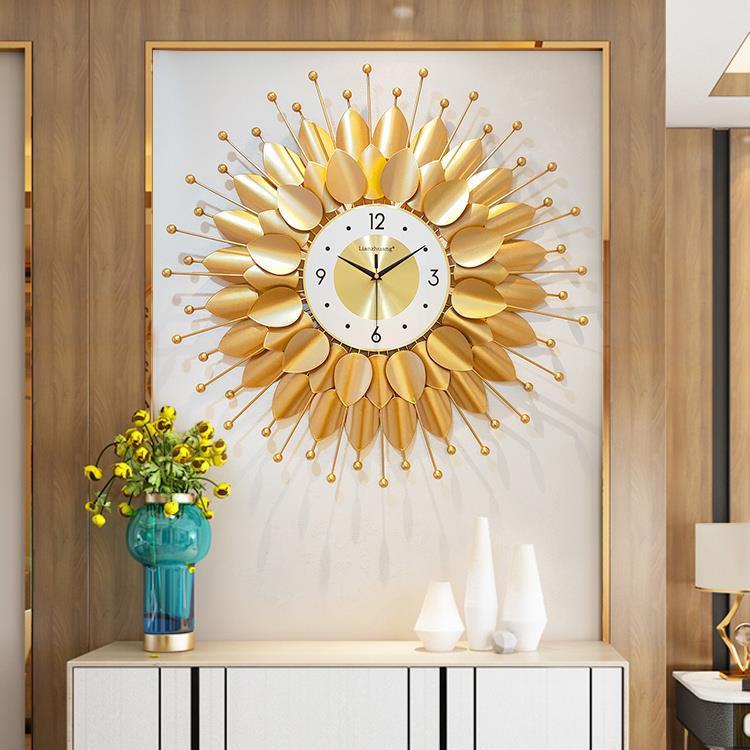 爱尚家具#讓利促銷 掛鐘客廳家用時尚創意鐘錶臥室個性藝術靜音鐘壁掛裝飾鐘現代輕奢