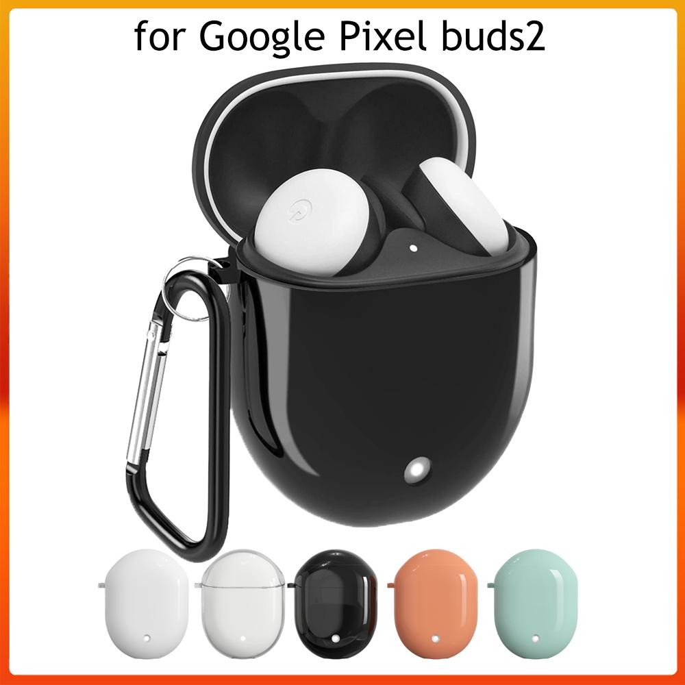 Miimall Pixel Buds 2 外殼, 防丟和防震硬質保護套保護套皮膚保護貼, 帶 Pixel Buds 2