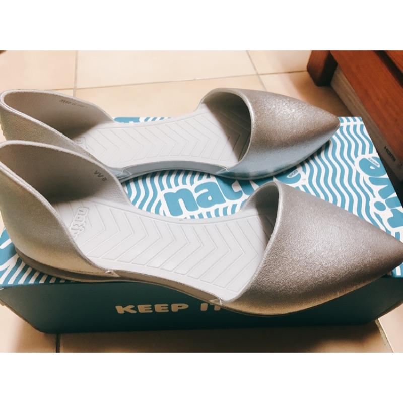 native AUDREY METALLIC 女鞋-銀