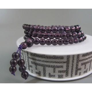 【古玩波波】特價出清 紫水晶配白水晶多圈手鏈項鏈108顆念珠6mm--703248 臺中市