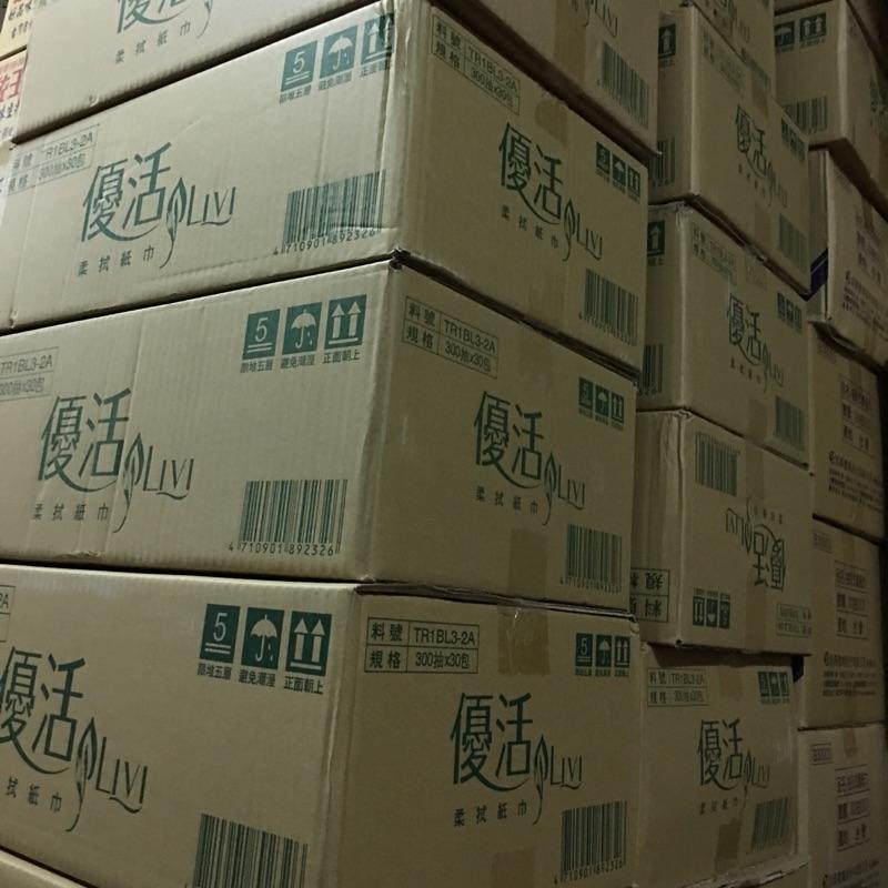 優活小抽衛生紙(柔拭紙巾300抽取式