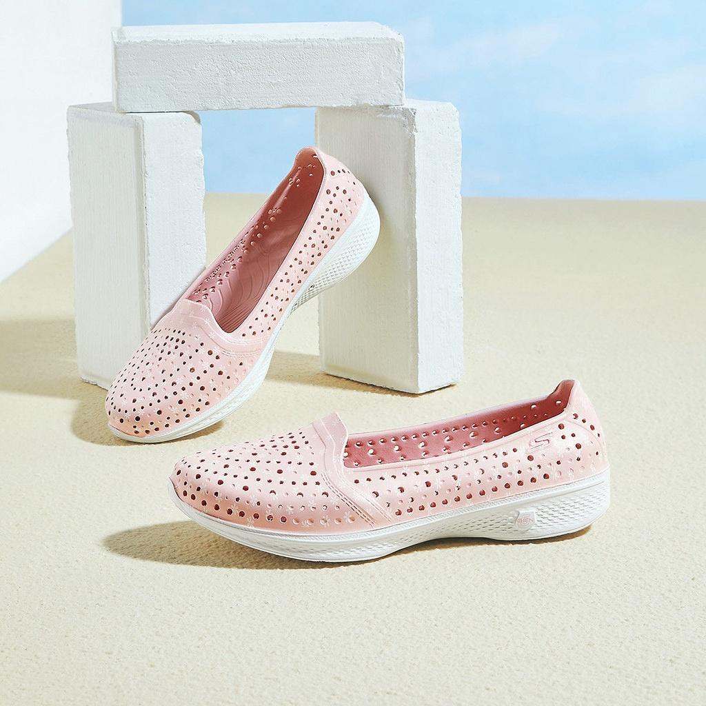 現貨Skechers斯凱奇 女鞋輕質舒適透洞洞鞋 百搭女款 氣疏水戶外休閒洞洞鞋沙灘鞋 平底鞋