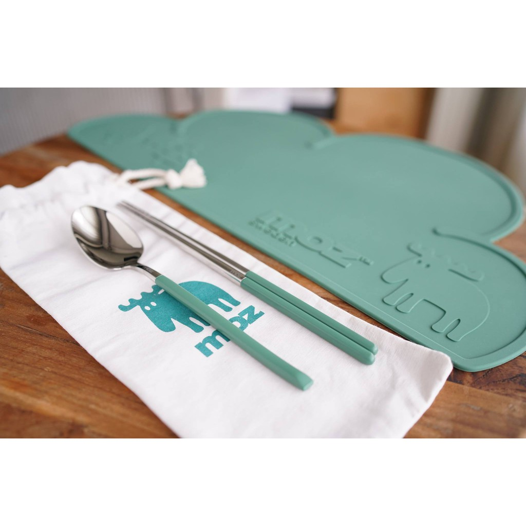 MOZ 萊爾富 餐具組(餐墊+湯匙+筷子+帆布束口袋) 餐具組