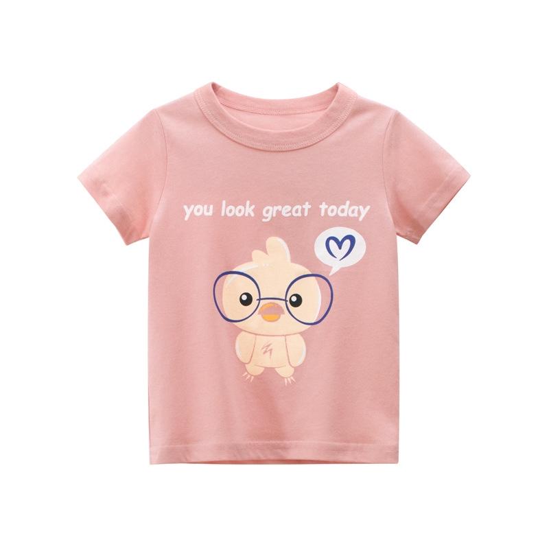 女童童裝韓版童裝夏季新款寶寶短袖T恤純棉 女童上衣孩子衣服可愛女童t恤