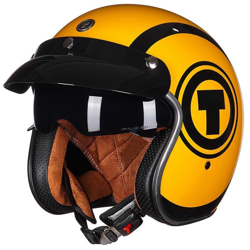 免運/頭盔安全帽美國TORC復古機車頭盔男女摩托車四季半覆式電動車安全帽時尚半盔