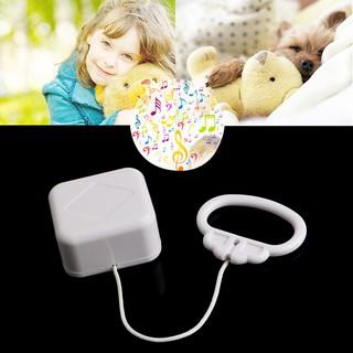 1個拉繩機芯音樂盒(歌曲隨機拉線繩音樂盒白色嬰兒床B