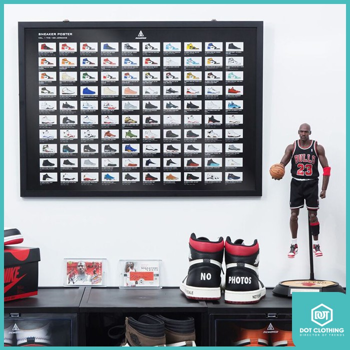DOT 小物 台灣自創 Sneaker Mob POSTER JORDAN 刮刮卡 喬丹 球鞋 收藏 海報 1-14代