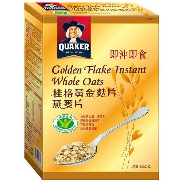 桂格黃金麩片燕麥片  1700g
