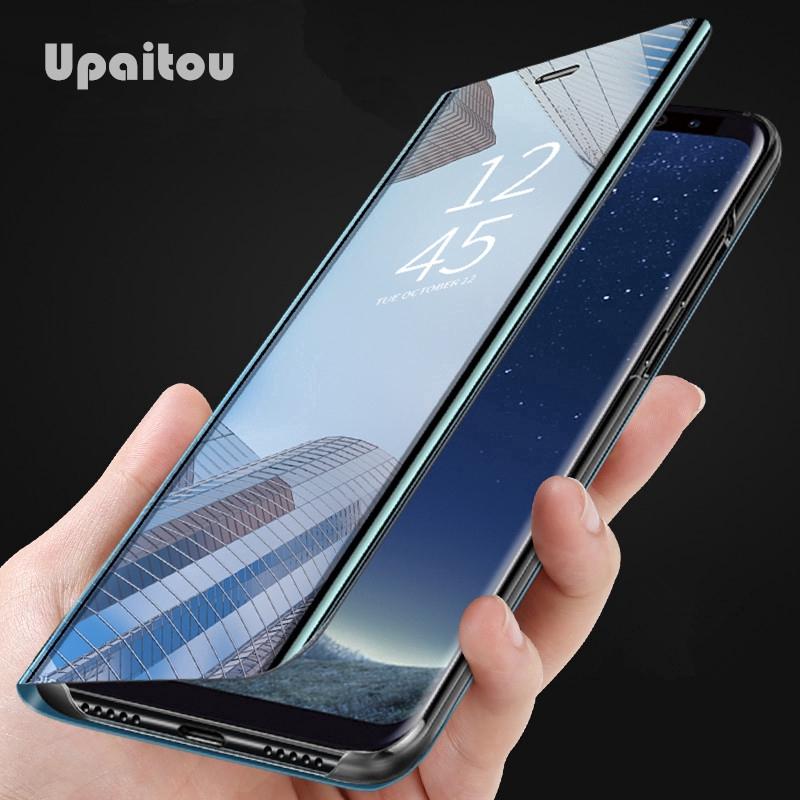 殼三星 Galaxy A50 A30 A70 A40 A20 A10 Case 智能鏡翻蓋保護套