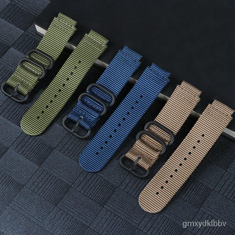 gshock 錶帶適用卡西歐GSHOCK手錶配件GST-B200 AW591AWG101錶帶改裝尼龍腕帶 UWG6