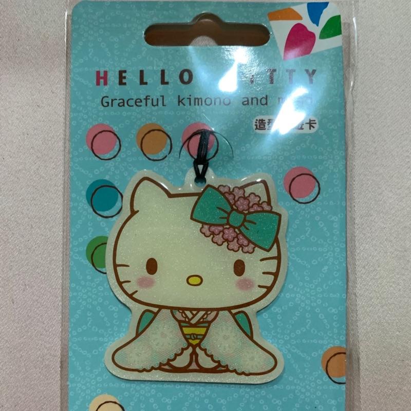 kitty和風造型悠遊卡