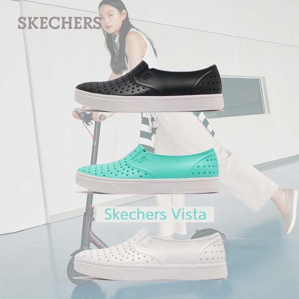 Skechers Vista 水鞋 洞洞鞋 防水 排水設計 女鞋 懶人鞋 全白 黑白 湖水綠 任選 【ACS】