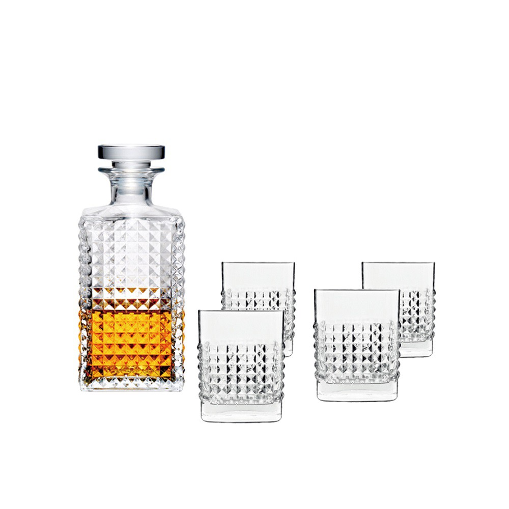 【義大利Luigi bormioli】威士忌禮盒組(1壺4杯)《WUZ屋子》