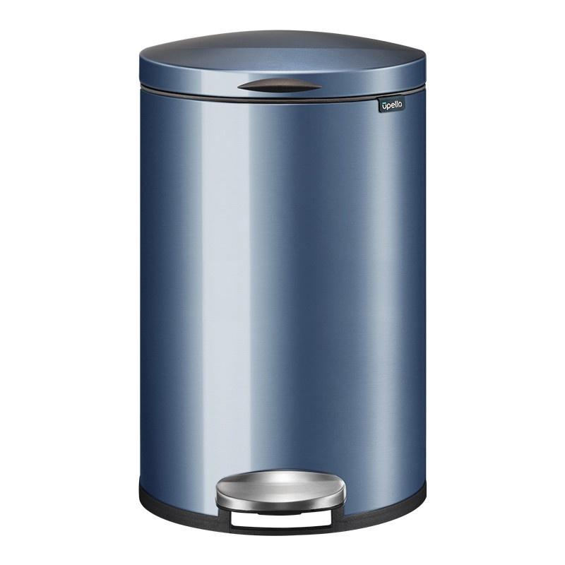 【LAMASED】不鏽鋼垃圾桶 腳踏式垃圾桶 廚餘桶 回收桶廚房收納 收納桶 浴室 辦公室 方便實用 靜音緩降