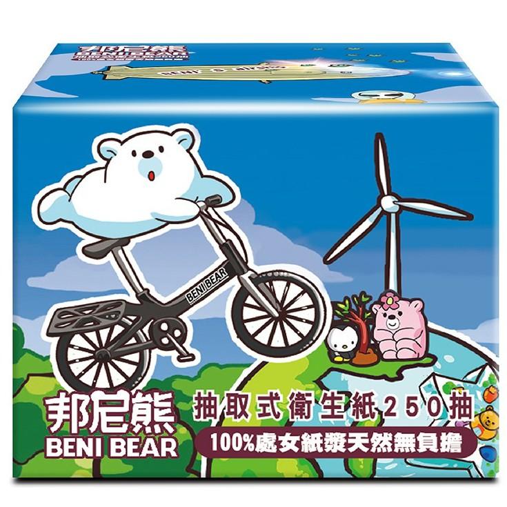 BeniBear邦尼熊抽取式衛生紙250抽x30包/箱(腳踏車版)
