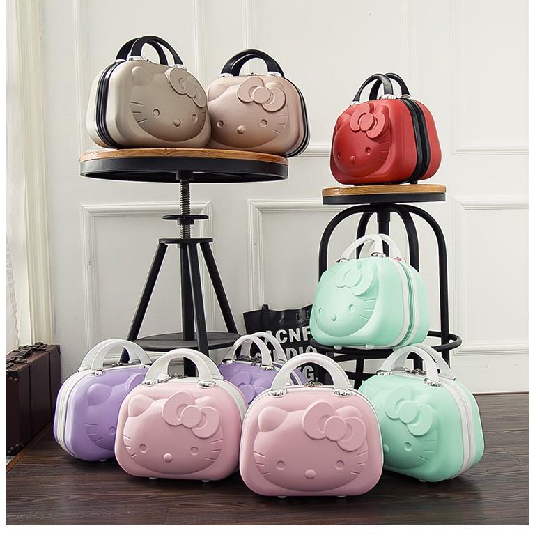 Kitty 14吋立體ABS 旅行箱行李箱手提包硬殼手提箱化妝箱收納包