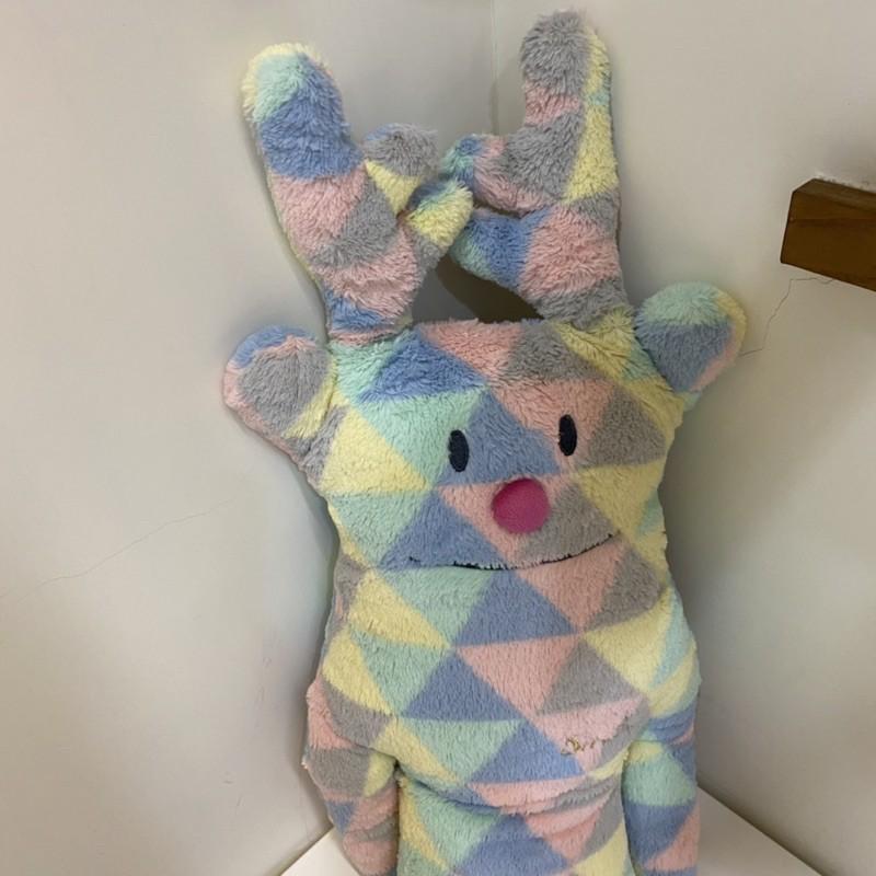 免運 二手 官方正品 CRAFTHOLIC 宇宙人歡樂紅鼻鹿鹿中抱枕 鹿 抱枕 娃娃