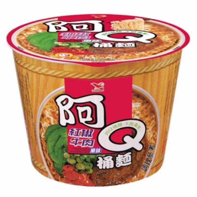任選5箱免運阿Q桶麵(紅椒牛肉)一箱/12碗