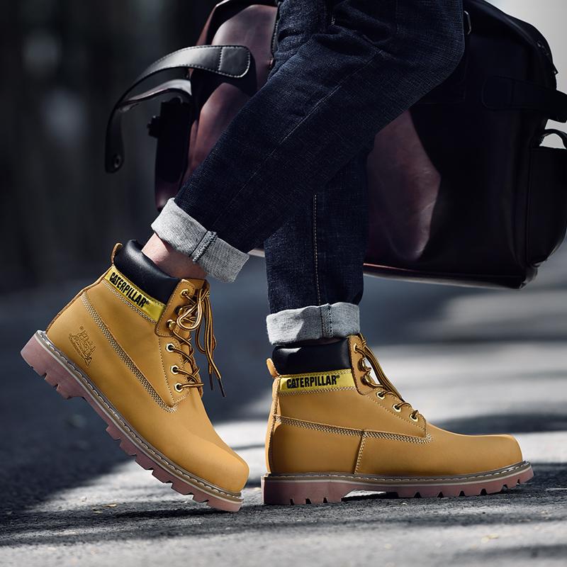 【台灣出貨】cat 靴子 馬丁鞋 馬丁靴 踢不爛黃靴 情侶鞋 男鞋 工裝鞋 休閒皮鞋 女鞋 鞋子