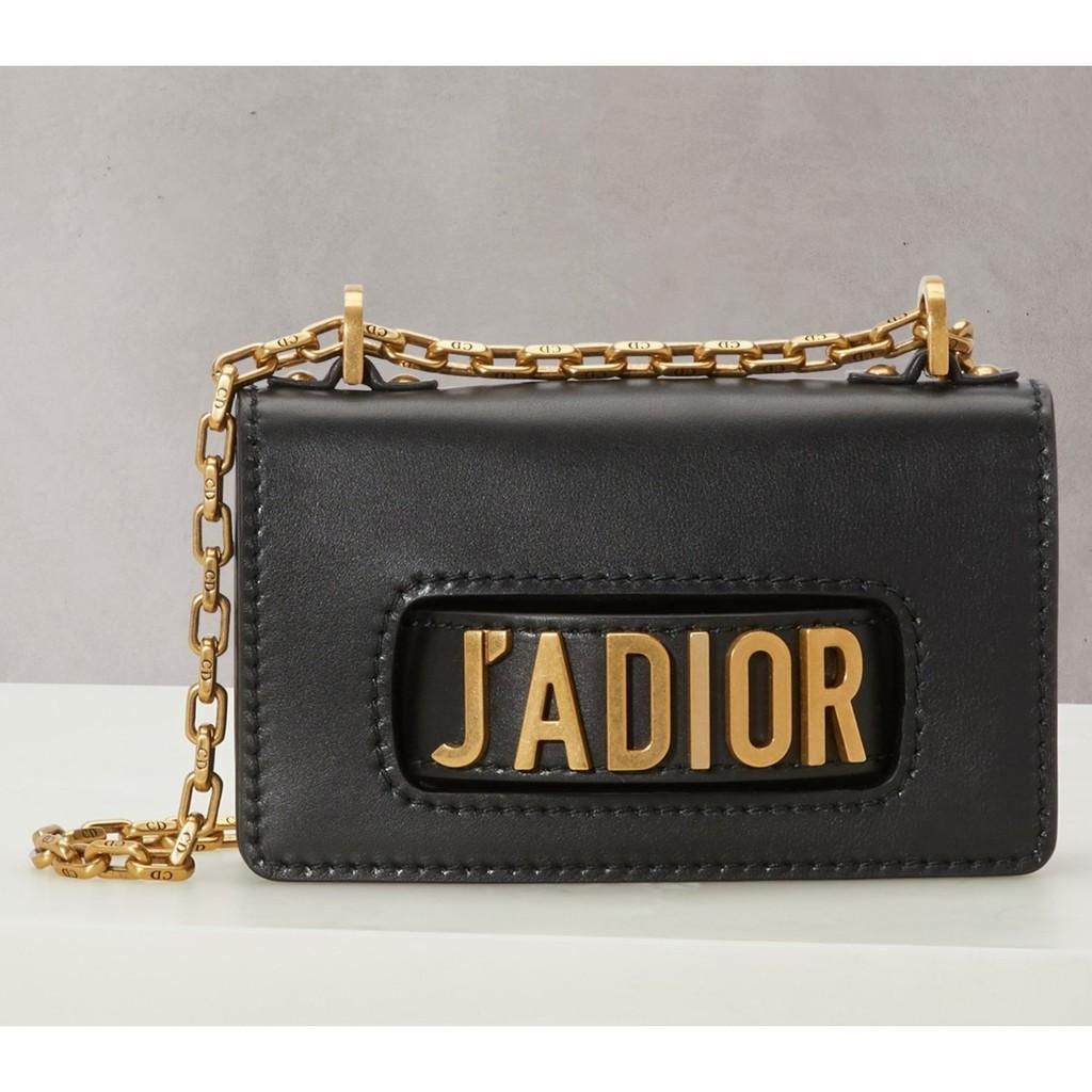 專櫃正品 Dior迪奧/法國代購/新款黑色金扣Jadior鏈條單肩包