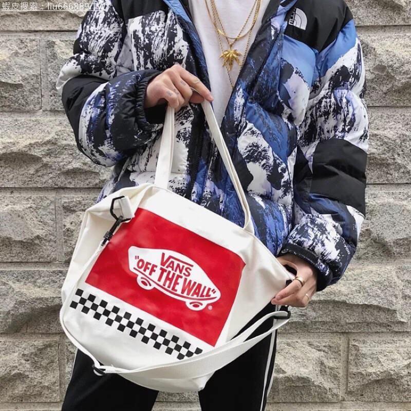 【熱賣】【蝦皮最低價】VANS帆布包mini雜誌附錄包雜誌附錄包包斜背帆布包手提帆布包斜背手提兩用包側背