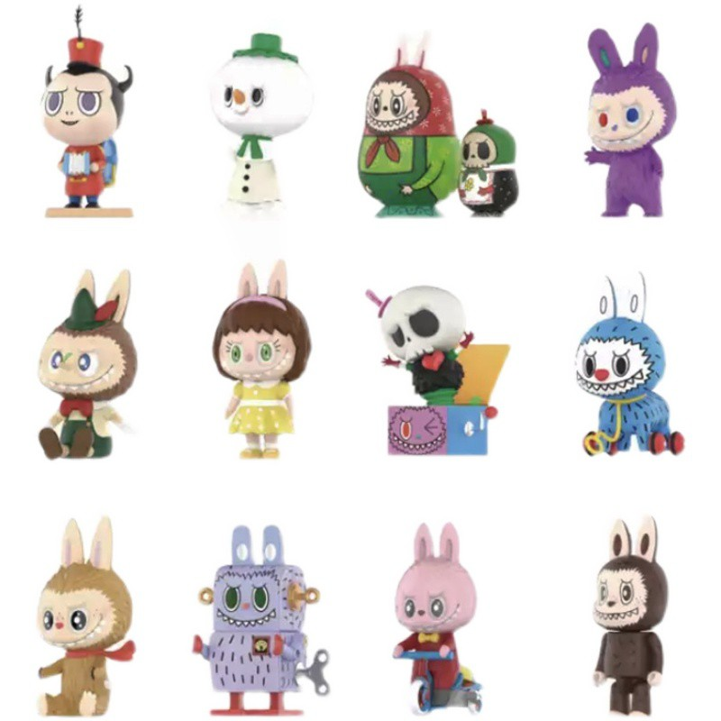 LABUBU 拉布布 精靈玩具盲盒 POPMART 泡泡瑪特 盒玩 木偶 驚喜盒子 潮玩公仔 龍家昇