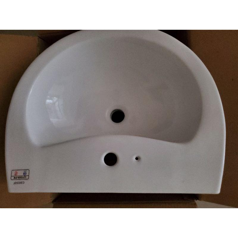 防爆caesar高級凱撒面盆/臉盆/洗臉盆 L2150 H面盆 純白