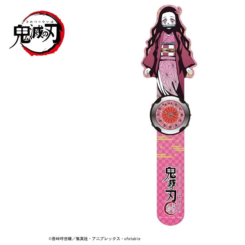 鬼滅之刃【 TW SAS 日本限定 】竈門禰豆子 手壓捲式 兒童手錶 / 腕錶