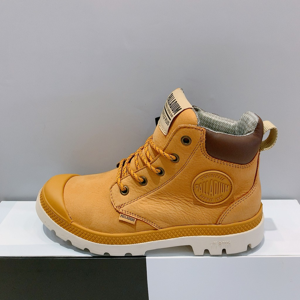 PALLADIUM PAMPA CUFF LITE+WP+LTH 男女款 駝色 皮革 防水 高筒靴 76464-717