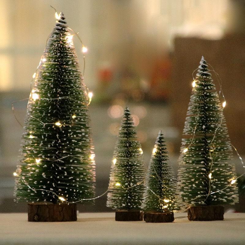 3D 迷你圣誕樹松針樹小型公室桌面圣誕樹圣誕裝飾誕節樹擺件禮物