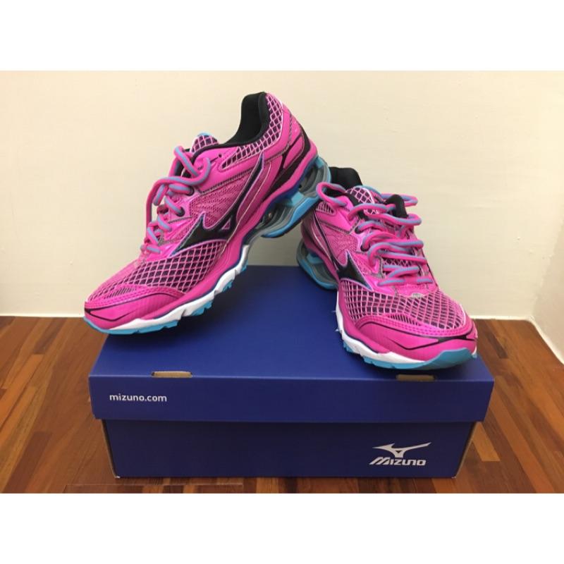 降價📣美津濃 Mizuno Wave creation 18 女鞋 慢跑鞋 粉黑色 24cm