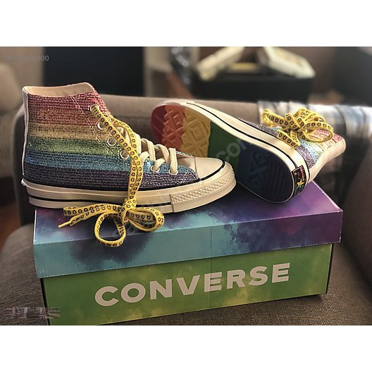 Miley Cyrus x Converse Pride Chuck 1970 High Top 彩虹 限量