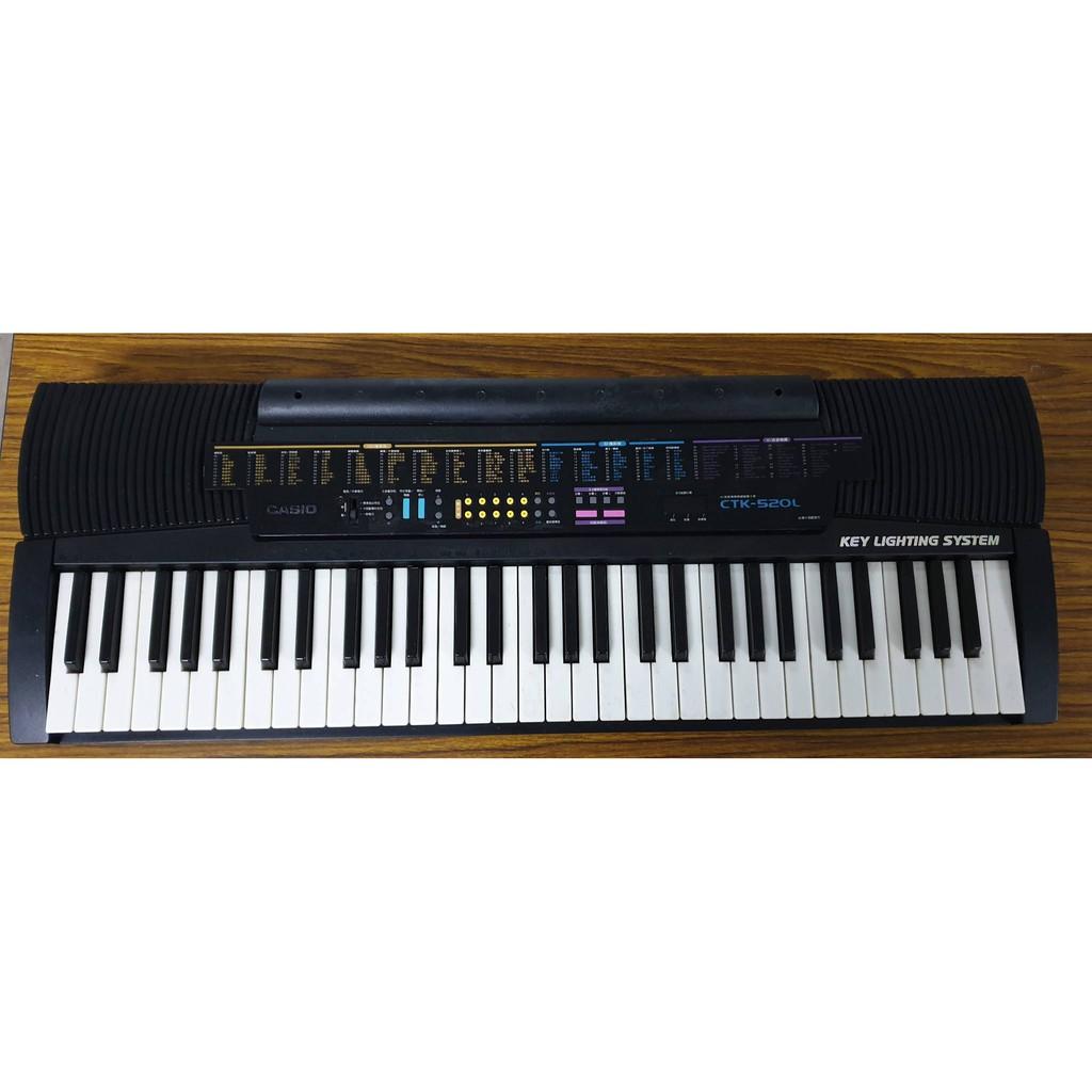 二手CASIO多功能電子琴CTK-520L61鍵,買一送一,超划算!!!
