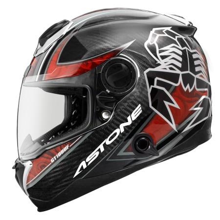 鼎泰安全帽 ASTONE GT1000F AC9透明碳纖紅 全罩 碳纖維 安全帽 內置墨片 (送防摔手套)