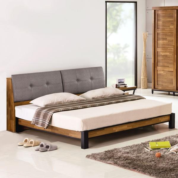 YoStyle 洛基工業風床架組(含床頭箱)-雙人5尺 床架 床組 專人配送安裝
