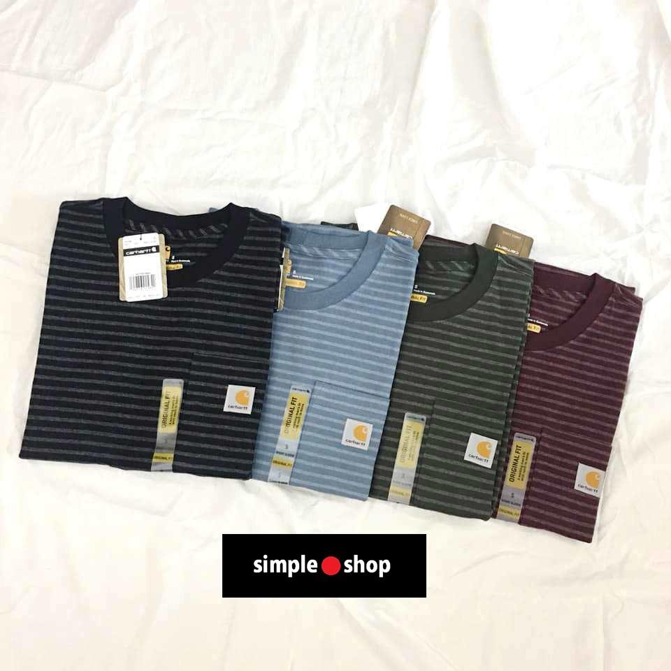 【Simple Shop】Carhartt Pocket K87 短袖 素面 重磅 6.75oz 卡哈 條紋 口袋短袖