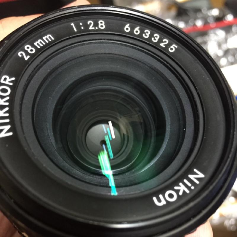Nikon ais 28mm f2.8 廣角 鏡頭 含前後蓋