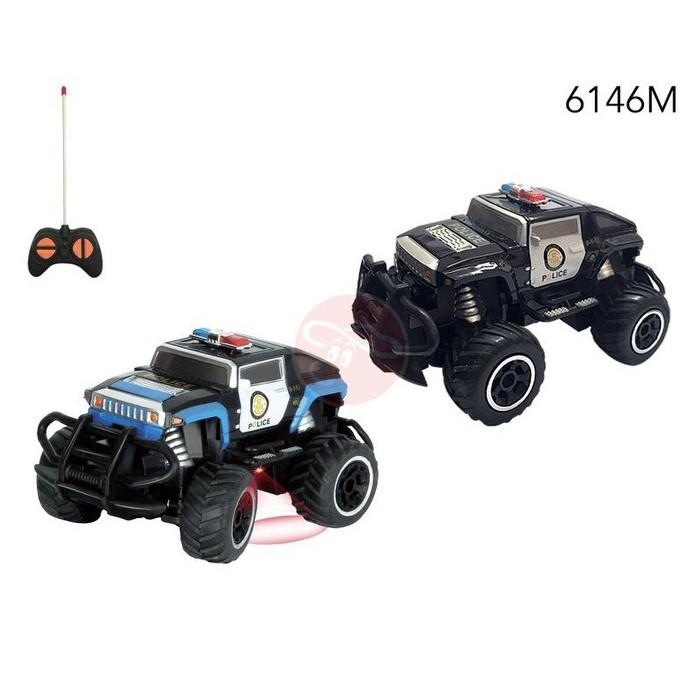 【MRW】1:43 1/43 迷你 小型 遙控車 悍馬車 警車 遙控玩具