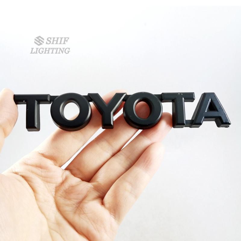 1 x ABS黑色豐田TOYOTA汽車改裝車標車尾車身車貼車標尾标TOYOTA丰田
