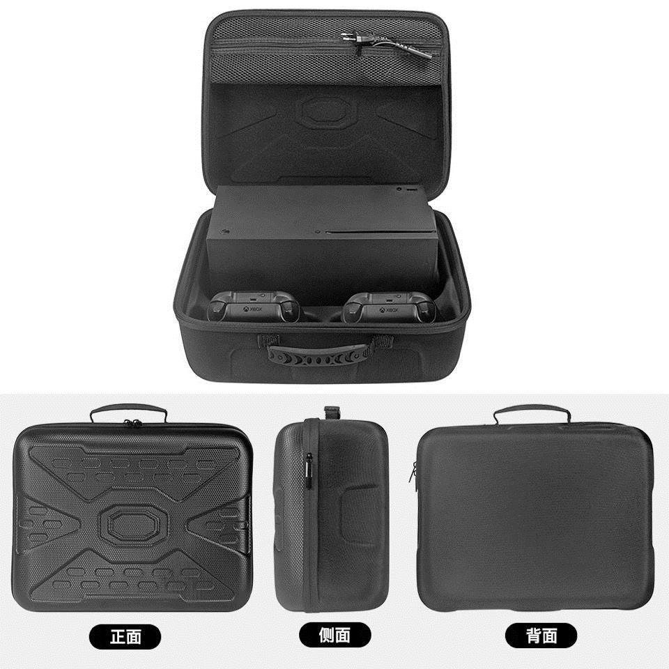 熱賣適用 微軟Xbox Series X游戲機收納包主機手柄配件保護盒硬手提袋